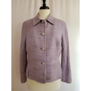 Kasper Size 12 Purple Blazer Jacket